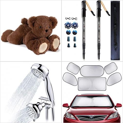 [Amazon折扣碼] 泰迪熊, 登山杖, 淋浴蓮蓬頭, 汽車遮陽板 額外折扣!