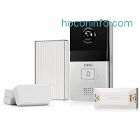 ihocon: DING WiFi Video Doorbell + 6-Month Cloud Storage + Smart Home Hub and WiFi Extender + 2 Pack Door/Window Sensors