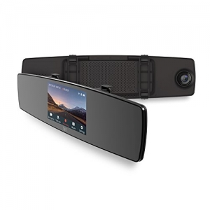 ihocon: YI Mirror Dash Cam, Dual Dashboard Camera Recorder with Touch Screen前後雙鏡頭行車記錄器