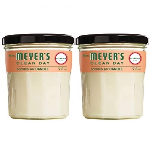 ihocon: Mrs. Meyer's Clean Day Scented Soy Candle, Geranium, Large, 7.2 ounce (Pack of 2) 蠟燭