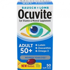 ihocon: Ocuvite Adult 50+ Vitamin & Mineral Supplement, 50-Count Soft Gels眼睛保養