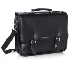 ihocon: Alpine Swiss Hunter Leather Briefcase 皮質公事包