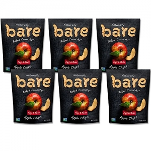 ihocon: Bare Natural Apple Chips, Fuji & Reds, Gluten Free + Baked, Single Serve Bag - 1.4 Oz (6 Count) 天然蘋果脆片