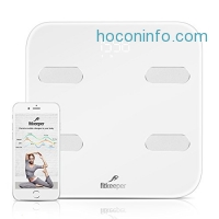 ihocon: Fitkeeper Bluetooth Smart Body Fat Scale智能體脂,身體成份組成體重計