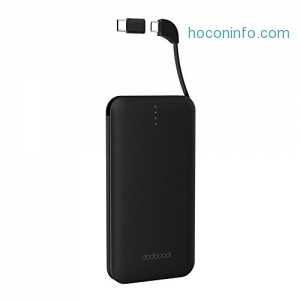 ihocon: dodocool DP12 10000mAh Power Bank with Built-in Micro-USB Cable 行動電源/充電寶