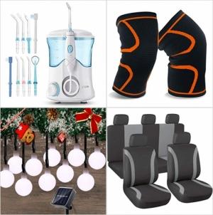 [Amazon折扣碼] 沖牙機, 護膝,  太陽能庭園裝飾燈, 汽車椅套 額外折扣!
