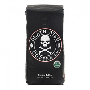 ihocon: Death Wish Ground Coffee, The World's Strongest Coffee, Fair Trade and USDA Certified Organic, 16 Ounce 死亡之願咖啡