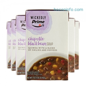 ihocon: Wickedly Prime Chipotle Black Bean Soup, 17 Ounce (Pack of 6)
