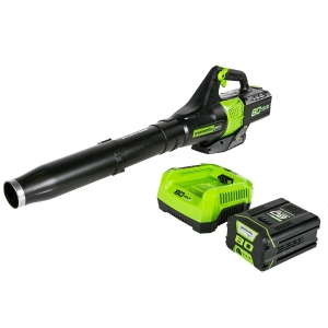 ihocon: Greenworks 80V Pro Axial Blower, Battery & Charger Included BL80L2510吹葉機