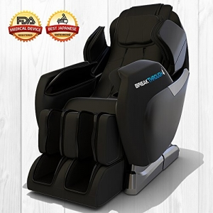 ihocon: Medical Breakthrough 4 Massage Chair Recliner (ver 2.0) - Zero Gravity, Built-in Heat, Deep Tissue Shiatsu Massage, and Back Stretch (Black)零重力, 加熱, 背部拉張按摩椅