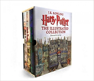 ihocon: Harry Potter哈利波特: The Illustrated Collection (Books 1-3 Boxed Set)