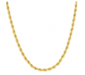 ihocon: 14K Gold 3mm Diamond Cut Rope Chain Necklace by Moricci項鍊