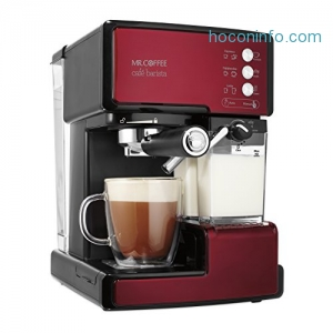 ihocon: Mr. Coffee Cafe Barista Espresso and Cappuccino Maker, Red