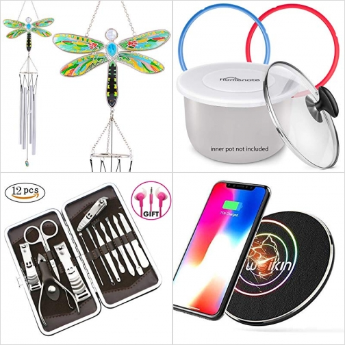 [Amazon折扣碼] 蜻蜓風鈴, 壓力鍋膠圈及蓋子, 美甲工具組, 手機無線充電板 額外折扣!