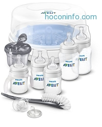 ihocon: Philips AVENT Anti-Colic Bottle Essentials Newborn Starter Set, Clear