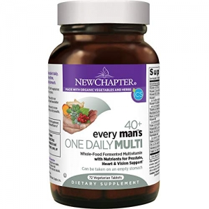 ihocon: New Chapter Every Man's One Daily 40+, Men's Multivitamin Fermented with Probiotics + Saw Palmetto + B Vitamins + Vitamin D3 + Organic Non-GMO Ingredients - 72 ct 男士綜合維他命