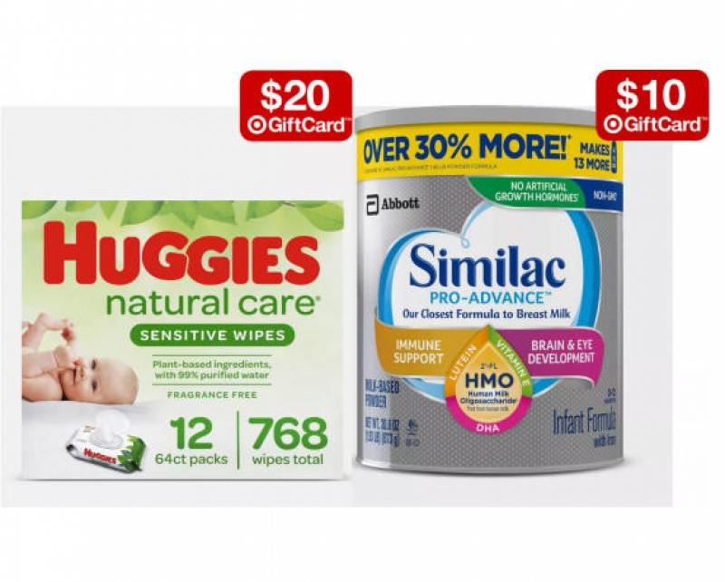 Target: 買尿片, 濕巾, 奶粉及嬰兒房家具送 Gift Card!