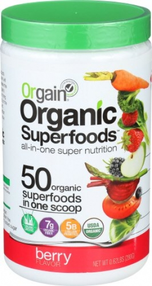 ihocon: Orgain Organic Superfoods, Berry, Vegan, Gluten Free, Non-GMO, 0.62 Pound, 1 Count
