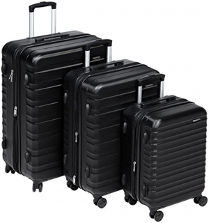 ihocon: AmazonBasics Hardside Spinner Luggage - 3 Piece Set (20, 24, 28)硬殼行李箱