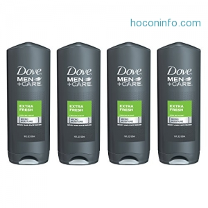 ihocon: Dove Men+Care Body and Face Wash, Extra Fresh, 18 oz, 4 Count