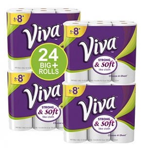 ihocon: VIVA Choose-A-Sheet* Paper Towels, White, Big Plus Roll, 24 Rolls