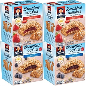 ihocon: Quaker Breakfast Squares Variety Pack, 5 bars Per Box, 4 Count