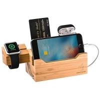 ihocon: UncleJack Bamboo Charging Dock竹製手機,手錶, 耳機充電座