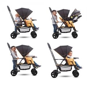 ihocon: Joovy Caboose Graphite Stand On Tandem Stroller, Amber 站/坐雙座嬰兒車