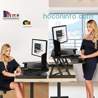 ihocon: Modrine Height Adjustable Desk Converter with Quick Release Keyboard Tray電腦升高架