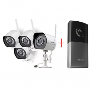 ihocon: Zmodo Wireless Security Camera System (4 pack) Smart HD Outdoor WiFi IP Cameras with Night Vision 無線夜視居家安全監視系統