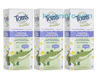 ihocon: Tom's of Maine Toddlers Fluoride-Free Natural Toothpaste in Gel, Mild Fruit, 1.75 Ounce, 3 Count幼兒天然無氟牙膏
