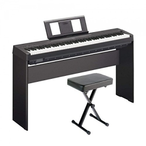 ihocon: Yamaha P71 Digital Piano (Amazon Exclusive) Deluxe Bundle with Furniture Stand and Bench 88鍵電鋼琴含琴椅