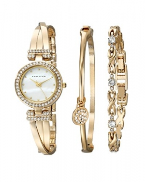 ihocon: Anne Klein Goldtone Swarovski crystals Bangle Box Set