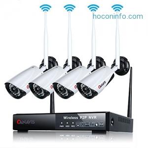 ihocon: CANAVIS Wireless Wifi 1MP Security Network Camera System居家防盜監視系統