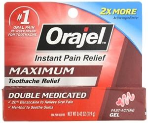 ihocon: Orajel Maximum Strength Gel Oral Pain Reliever, 0.42 Oz 牙痛舒緩凝膠