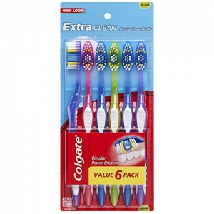 ihocon: Colgate Extra Clean Full Head Toothbrush, Medium - 6 Count 高露潔額牙刷