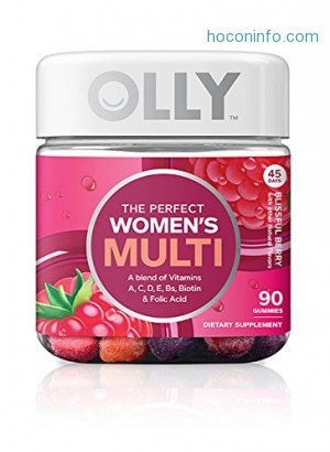 ihocon: OLLY Perfect Women's Multivitamin Gummy Supplement, with Biotin & Folic Acid, Blissful Berry, 90 count (45 Day Supply)