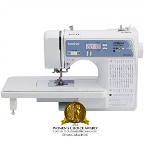 ihocon: Brother, Computerized Sewing Machine, XR9550PRW, Project Runway Limited Edition, 110 Built-in Utility, LCD Screen, Hard Case 電腦縫紉機