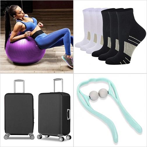 [Amazon折扣碼] 運動健身球, 男襪/女襪 , 防水行李箱保護套, 按摩器 額外折扣!