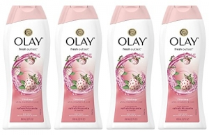 ihocon: Olay Fresh Outlast Cooling White Strawberry & Mint Body Wash, 22 oz, (4 Count)   冷卻白色草莓和薄荷沐浴露,22盎司,(4支裝)