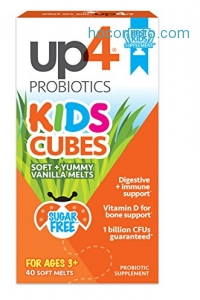ihocon: UP4 Kids Cubes Probiotic Supplement, Sugar Free, 40 Count兒童無糖益生菌