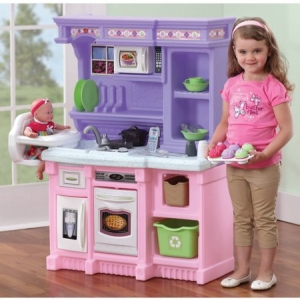 ihocon: Step2 Little Bakers Kitchen with 30-piece Accessory Set兒童玩具廚房