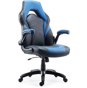ihocon: Staples Gaming Chair, Black and Blue 遊戲電腦椅