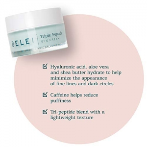 ihocon: [Amazon自家品牌] Belei Triple-Peptide Eye Cream, Fragrance Free, Paraben Free, 0.5 Fluid Ounce (15 mL) 三肽眼霜,不含香料,不含防腐劑