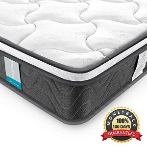 ihocon: Full Mattress , Inofia 8 Inch Innerspring Hybrid Foam Full Size Mattress CertiPUR-US Certified, Ergonomic Design 彈簧床墊