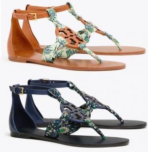 ihocon: Tory Burch Miller Scarf Sandal, Printed Satin 印花涼鞋 - 2色可選