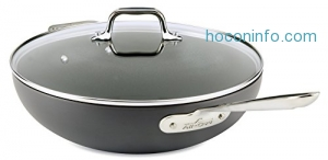 ihocon: All-Clad E7859464 HA1 Hard Anodized Nonstick Dishwasher Safe PFOA Free Chefs Pan / Wok Cookware, 12-Inch, Black