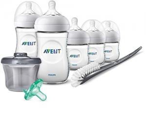 ihocon: Philips Avent Natural Baby Bottle Newborn Starter Gift Set, SCD206/02 飛利浦新生兒奶瓶一組