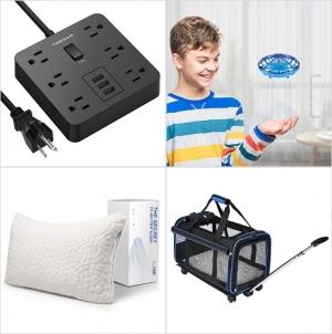 [Amazon折扣碼] Power Strip延長線, 手控飛行器, 碎塊記憶棉枕, 寵物外出車 額外折扣!