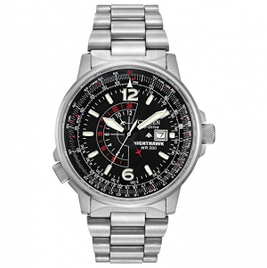 ihocon: Citizen Men's Eco-Drive Promaster Nighthawk Dual Time Watch with Date, BJ7000-52E光動能男錶